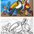 exotic birds group for coloring book stock photo © izakowski