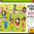 muitos · crianças · desenho · animado · tarefa · ilustração - foto stock © izakowski