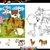 farm animals coloring page set stock photo © izakowski