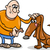 man and dog cartoon illustration stock photo © izakowski