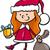 santa claus kid cartoon illustration stock photo © izakowski