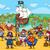 pirates on treasure island cartoon stock photo © izakowski