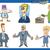 cartoon set of businessmen stock photo © izakowski