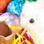 witte · pluizig · bunny · chocolade · ei - stockfoto © jackethead