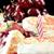 aardbei · kers · muffin · kaars · sluiten · verticaal - stockfoto © jackethead