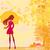 silhouet · vrouw · decoratief · textuur · abstract - stockfoto © jackybrown