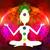 yoga · lotus · pose · gekleurd · chakra · punten - stockfoto © jackybrown