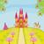 principessa · cavallo · castello · colore · illustrazione · donna - foto d'archivio © jackybrown