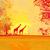 африканских · сумерки · вектора · цветочный · жираф · силуэта - Сток-фото © jackybrown