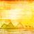 エジプト人 · ピラミッド · ギザ · 砂漠 · 日没 · 空 - ストックフォト © jackybrown