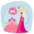 belle · princesse · cheval · cute · robe · rose - photo stock © jackybrown