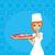 jovem · garçonete · pizza · mulheres · verde · meninas - foto stock © jackybrown