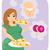 kövér · lány · eszik · hizlaló · pizza · étel - stock fotó © JackyBrown