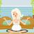 terhesség · meditáció · illusztráció · terhes · nő · meditál · terhes - stock fotó © jackybrown