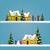 iki · Noel · afişler · kar · arka · plan · kış - stok fotoğraf © jagoda