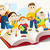de · volta · à · escola · educação · jovem · estudantes · sorrir · livro - foto stock © jagoda