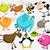 Funny cartoon animals  stock photo © jagoda