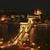 the view of the chain bridge by night stock photo © jakatics