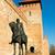 lovag · ló · kastély · szín · illusztráció · mosoly - stock fotó © jakatics