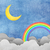 Grunge paper texture moon and rainbow  stock photo © jakgree_inkliang