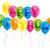 balonlar · mutlu · yıllar · imzalamak · parlak · renk · kelime - stok fotoğraf © jamdesign