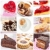 desserts · collage · neuf · tartes · dessert - photo stock © jamdesign
