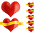 red heart with golden ribbon stock photo © jamdesign