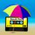 praia · festa · aviador · cartaz · casa · menina - foto stock © jamdesign