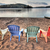 Four Patio Chairs Looking Over Lake stock photo © jameswheeler