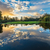 wide angle river clouds reflection stock photo © jameswheeler
