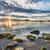 sahil · güneş · star · kayalar · sahil · gün · batımı - stok fotoğraf © jameswheeler