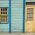 bois · mur · fenêtre · porte · bleu · texture - photo stock © janhetman