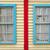 houten · muur · Windows · twee · achtergrond · venster - stockfoto © janhetman