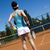 Woman playing tennis, natural colorful tone stock photo © JanPietruszka