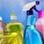 produtos · de · limpeza · diferente · cores · bubbles · fundo · limpeza - foto stock © janpietruszka