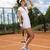 girl playing tennis natural colorful tone stock photo © janpietruszka