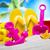 plaj · kürek · turuncu · plastik · maça · kumlu - stok fotoğraf © janpietruszka