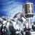 diszkógömb · mikrofon · zene · retró · stílus · hang · hullámok - stock fotó © janpietruszka