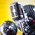 microphone vinyl record and disco balls music saturated concept stock photo © janpietruszka