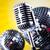 mikrofon · bakelit · lemez · diszkó · golyók · zene - stock fotó © janpietruszka