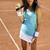 mulher · jogar · quadra · de · tênis · fitness · tênis · trem - foto stock © janpietruszka