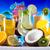 exótico · álcool · bebidas · conjunto · frutas · isolado - foto stock © janpietruszka