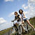 woman bike summer free time spending stock photo © janpietruszka