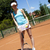woman playing tennis natural colorful tone stock photo © janpietruszka