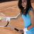 mulher · jovem · jogar · tênis · mulher · vida · jovem - foto stock © JanPietruszka