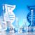 DNA molecules, Chemistry formula background stock photo © JanPietruszka