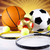 スポーツ用品 · 日照 · サッカー · スポーツ · オレンジ · 野球 - ストックフォト © janpietruszka