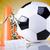 voetbal · zonneschijn · voetbal · achtergrond · leuk · bal - stockfoto © janpietruszka