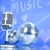 microphone with disco balls music saturated concept stock photo © janpietruszka