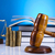 law theme mallet of judge wooden gavel stock photo © janpietruszka